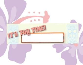 Tiki Party - Table/Name Cards, Printable, Vintage Style. Perfect for Luau, Tiki Party, Birthday, Wedding or Graduation!