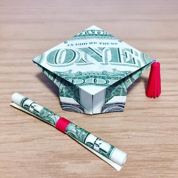 Money Origami graduation gift origami graduation cap - photo#12