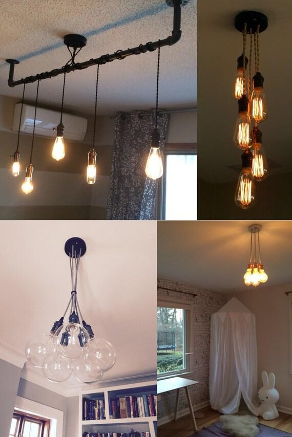 5 pendant light cluster hanging pendant light industrial
