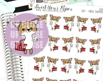 Target Planner Stickers - Shopping Planner Stickers - Target Run Planner Stickers - Dog Planner Stickers - Doodle Planner Stickers - 2020
