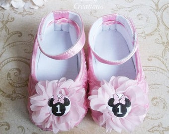 Minnie Mouse Shoes for Pink Minnie Mouse Birthday Outfit - Minnie Mouse 1st Birthday Outfit Pink - Minnie Mouse First Birthday Outfit