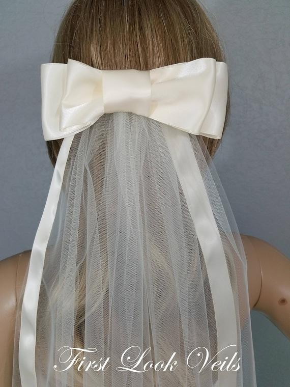 Wedding Veil, Bridal Veil, Bow Viel, Cathedral Veil, Handmade, Bride, Accessory, Gift