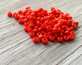 Glass seed beads -Toho Japanese glass seed beads size 6 orange sunset