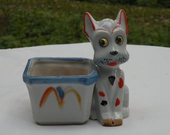 Vintage Ceramic Cat Planter - Japan