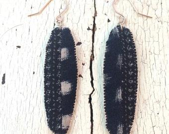 Indigo Kasuri Earrings