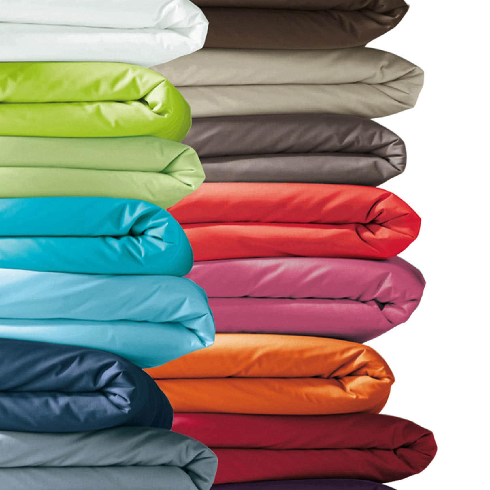 housse de couette 80x120 cm coton 21 coloris uni fermeture. Black Bedroom Furniture Sets. Home Design Ideas