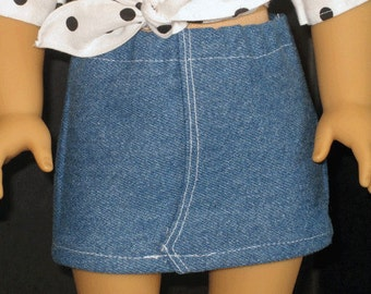 "Jean Skirt for 18""  doll such as American Girl"