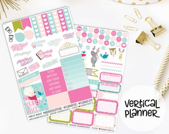 Winter Bear Weekly Vertical Planner Stickers Kit 782L1-2