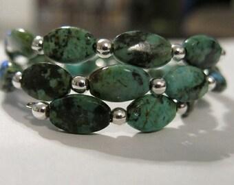 African (Turquoise) Jasper Beaded Bracelet