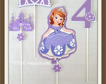 4 sofia the first centerpieces/party decorations
