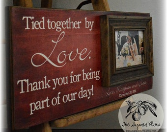 Parent Wedding Gift, Wedding Gift Parents, Thank You Wedding Parents Gift, Parents of the Bride Gift, Parents of the Groom Gift, 8x20