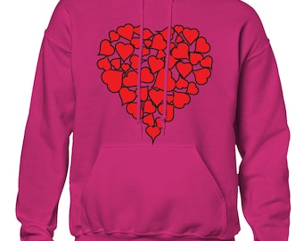 Heart Of Hearts Valentines Day Love Holiday Gift Idea Romance Romantic Men's Hoodie SF-0445