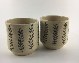 Elegant ceramic wine or tea glasses