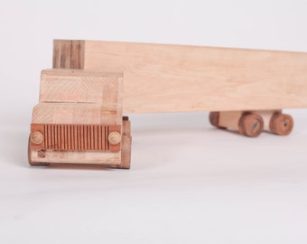 Handcrafted Wood Semi Truck