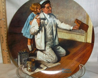"Listing 97 is the Norman Rockwell Limited Edition Collector's Plate ""The Painter"""
