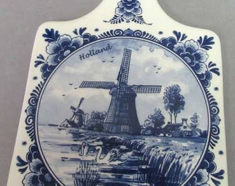 Handpainted DELFT BLUE TRIVET -  Made in Holland