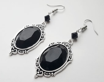 Black Jewel Morticia Gothic Earrings