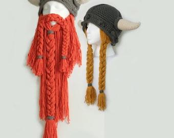 Bearded & Lady Viking Hat Set