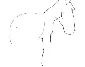 Großes ruhiges Pferd 12 X 18 drucken