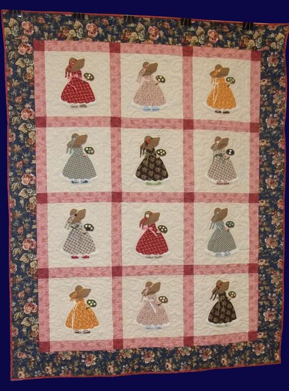 Sunbonnet Sue Strawbonnet Sue Quilt Pattern