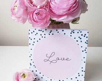 Luxury Linen Love Dots Gift Card