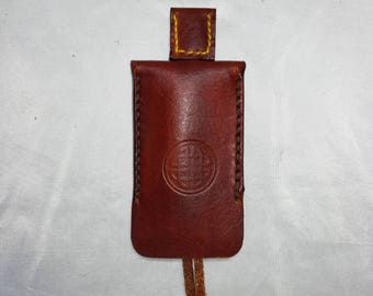 Handmade in Ireland Leather Key Slip cover with pull
