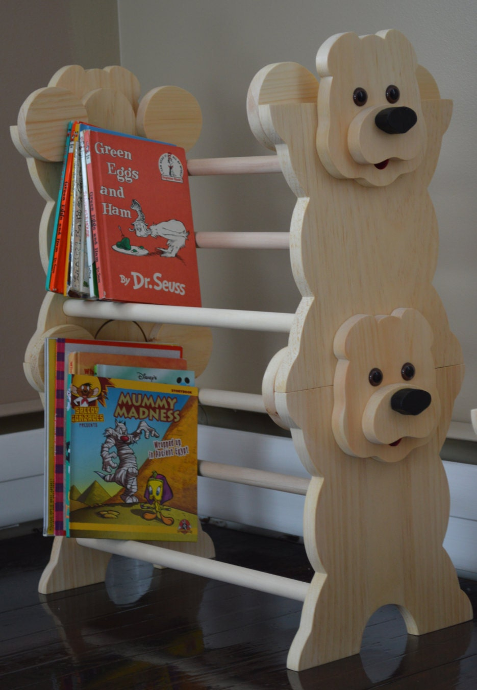 Stackable Bear Bookshelf Kids Furniture