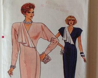 Vogue 9805 Ladies Dress Wrap Around Size 12-14-16 Vintage 1987