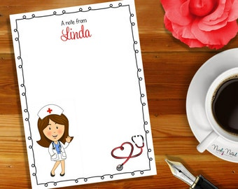 Personalised Notepad - Doctor Nurse Notepad Design / Personalized Magnetic Notepad /  Paper Goods / Stationery / Notepad