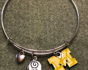 University of Michigan Charm Bracelet