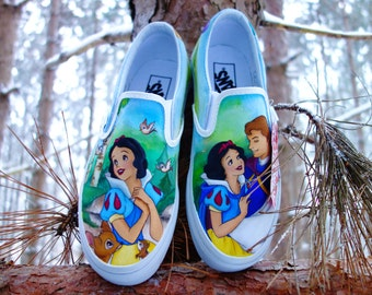 Disney Snow White Custom Painted VANS for Dolores