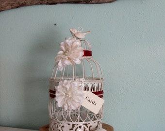 Rustic Wedding Card Box, Wedding Card Holder, Card Box, Card Holder, Gift Table, Wedding Birdcage, Wedding Bird Cage, Decorative Birdcage
