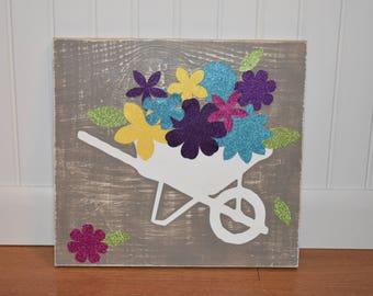 Spring Wheelbarrow Sign