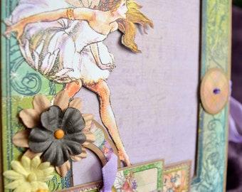 """Graphic 45 """"Fairie Dust"""" scrapbook album"""