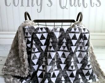 Aztec Baby Blanket - Designer Minky