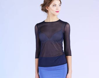 Twilight - see through tulle top