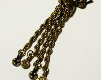 bronze 65mm MB312 1 tassel charm