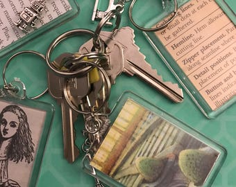 Book Page Keychain