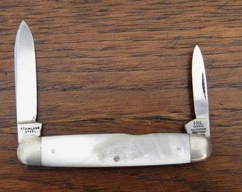 IXL George Wolstenholm Mother of Pearl Pocket Knife Vintage Folding MOP