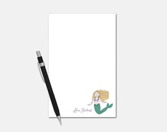 Custom Notepads - Mermaid Notepad - Custom Gifts for Girls - Mermaid Gifts - Personalized Notepad
