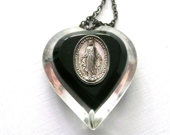 Vintage Miraculous Medal Necklace