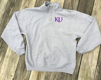 Kansas Jayhawks KU Quarter Zip Sweatshirt