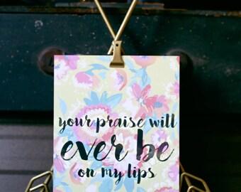 5x7 Ever Be // Print from Manda Julaine Designs // Song Lyrics by Bethel Music