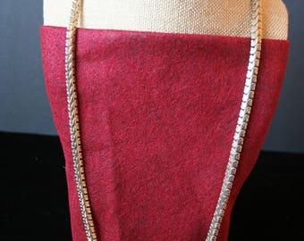 Vintage Le Bernard serpentine chain necklace