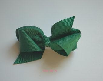 """Hunter Green,Royal Blue,3.3"""" Baby and Toddler hair bows,clip with bow,baby hair clip bow,bow,baby girl,girls hair bows, classic hair bows"""