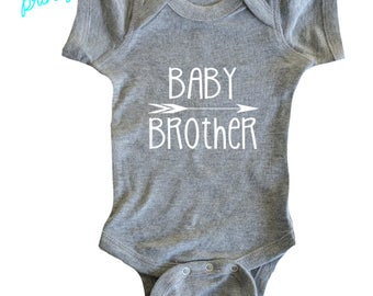 Baby brother shirt bodysuit Little Brother Shirt Boys Shirt New Brother