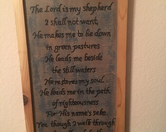 Psalm 23 wooden wall hanging