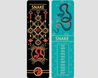 Snake Chinese Zodiac Sign (Sheng Xiao) Bookmark