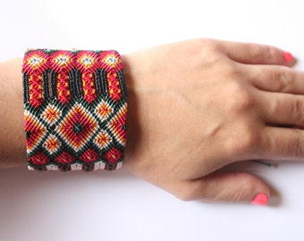 Mazahua embroidered bracelet -