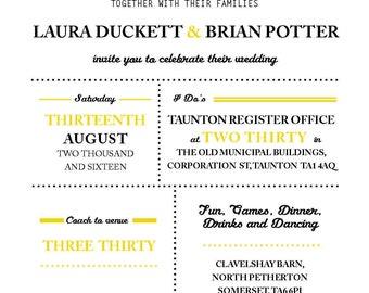 Wedding Invites Bunting A6